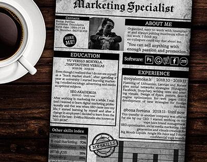 Marketing Specialist CV