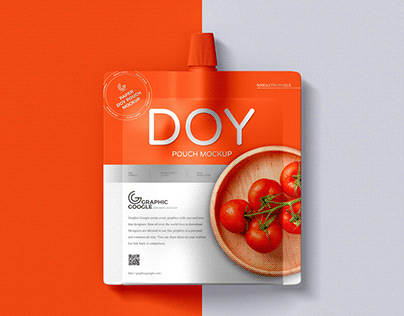 Free Doy Pouch Mockup