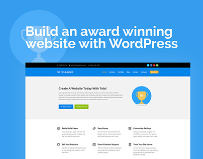 Cleaner Flat Style Business Web Design