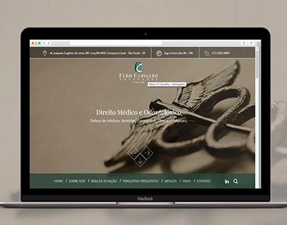 Fabio Carvalho Advogados | UI / UX Design