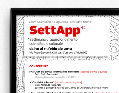 Poster design: SettApp conference