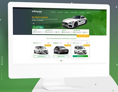 Erboycar Rent A Car UI / UX Web Design