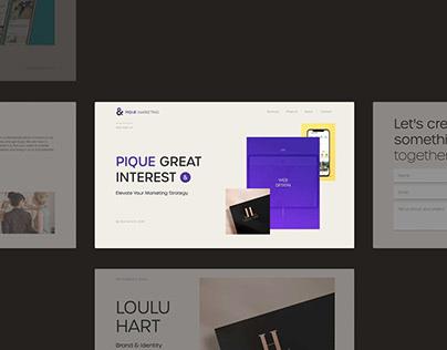 Pique Marketing: Design Agency Web Design