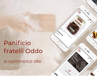 Panificio fratelli Oddo E-commerce site