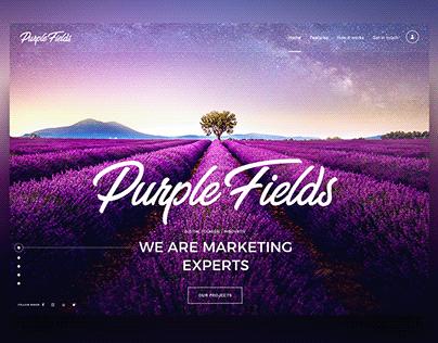 Purple Fields - Website Animation
