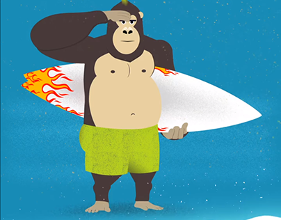 Surfer Gorilla