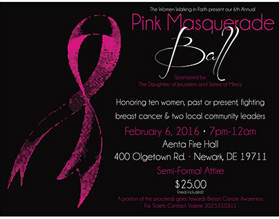 Breast Cancer Awareness Event Ticket/Postcard & Flyer