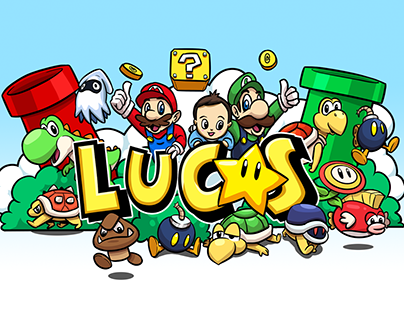 Mario-Themed Poster