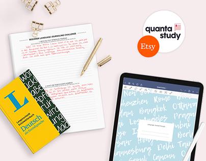 Etsy Shop Graphic Design | Quanta Study