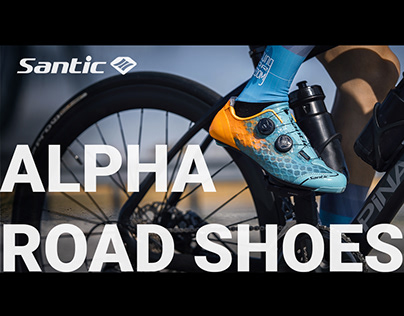 Santic Alpha road cycling shoes advertising