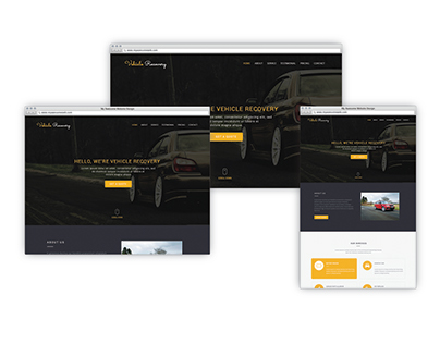 Vehicle Recover Website Design
