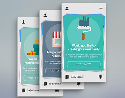 Cards design for Toluna app