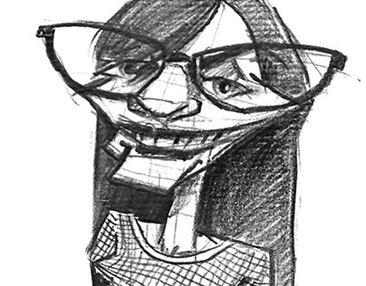 Boceto de caricatura en vivo - 2015