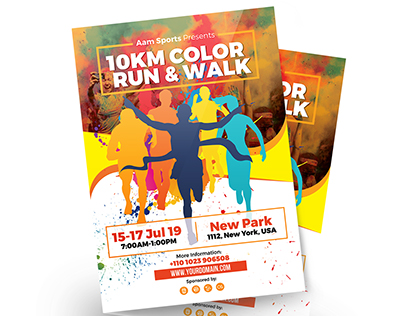 Color Run Event Flyer