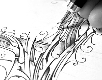 L - Lettering | step by step | Pencil 0,7 | Video