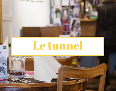 "Website for the café ""le tunnel"""
