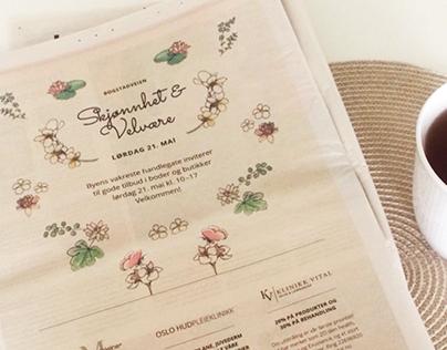 Bogstadveien – Illustrations and design for ad