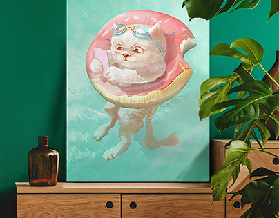 Pool Party   Wall Art   Kids Room   Poster