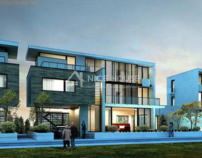 Biệt thự 3 tầng hiện đại Anh Đạt – Thái Nguyên