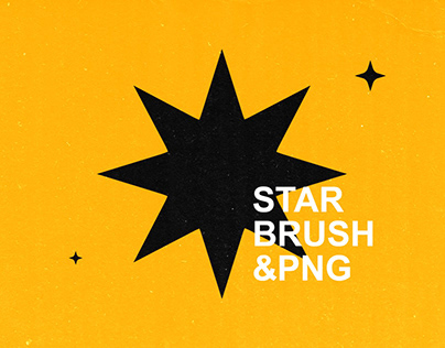 Free Download Various Star Brushes & PNG