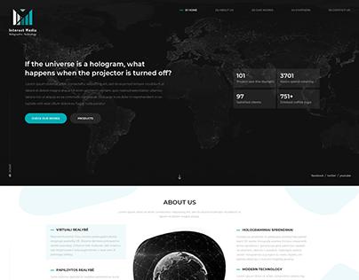 Interactmedia Landing page