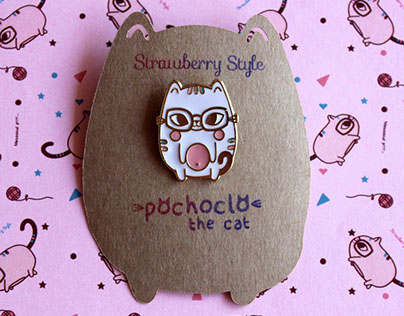 Enamel Pin - Pochoclo The Cat