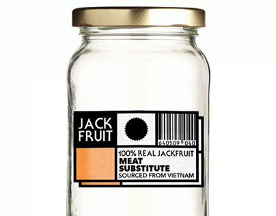 Jackfruit (Meat Substitute) Company Logo and Packaging