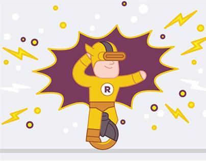 Raiffeisen bank corporate illustrations