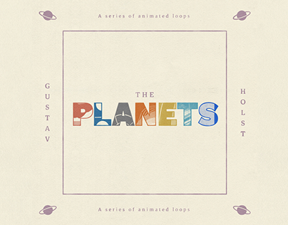 The Planets - A Series of Animated Loops