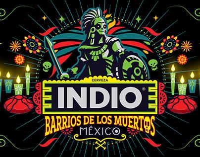 Ilustraciones Barrios de Los Muertos para Cerveza Indio