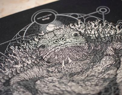 "Moro Moro Land ""Through"" LP artwork"