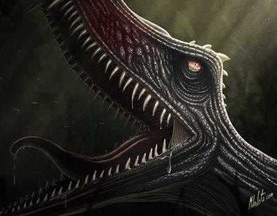 Jurassic Creature | Digital Painting | Time Lapse