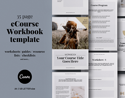 eCourse Workbook Canva template