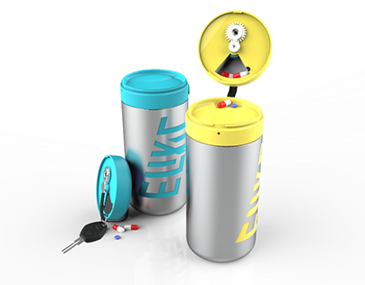 Elixir: Discreet Pill Dispenser & Water Bottle