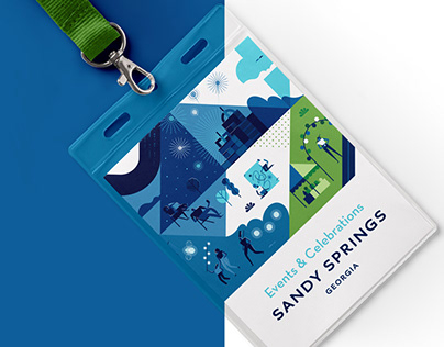 Sandy Springs · Visual identity illustrations