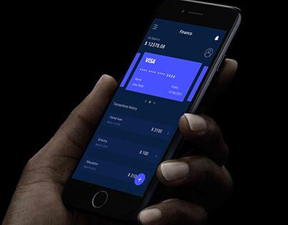 Dark mode Finance App UI UX Design | Income App