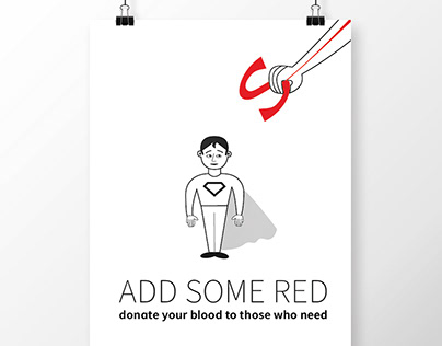 """""""Add Some Red"""" set of posters for donor.ua"""
