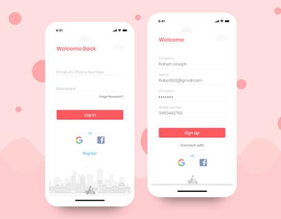 Login screen - Go Ride App