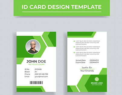 ID Card Design Template | Corporate ID Card Design