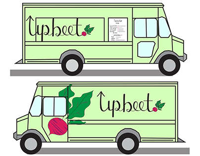 Upbeet: Vegetarian Cuisine Food Truck Identity