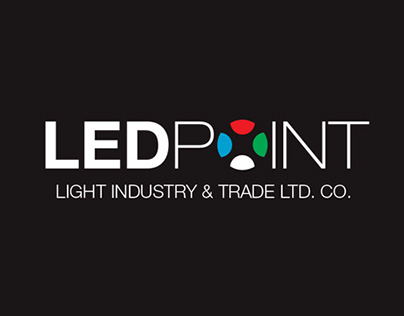"""""""Led Point"""" Light Industry Logo and Corporate Design"""