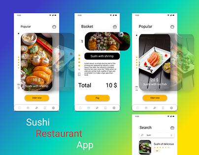 Sushi Restaurant App design UI KIT & Template for IOS