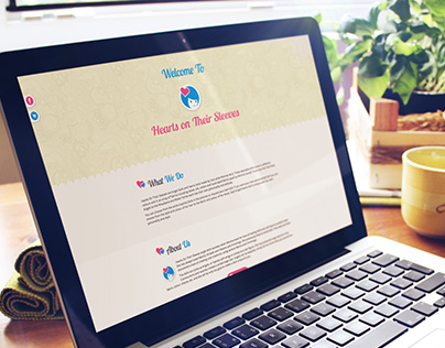 Hearts On Their Sleeves - Logo & Website project