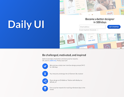 Daily UI Challenge (January 29th - July 19th 2018)