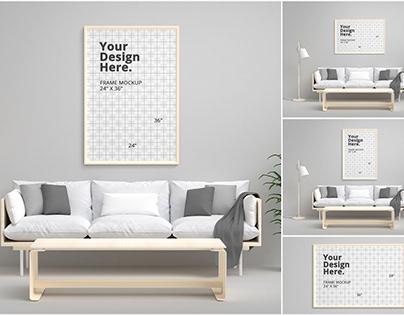 Interior Frame Mockup 24x36 inch