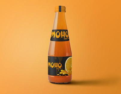 Moho Juice packaging & Asvertising
