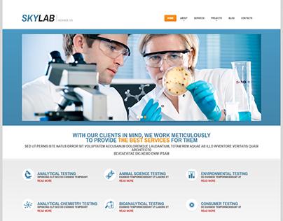 Science Laboratory WordPress Theme