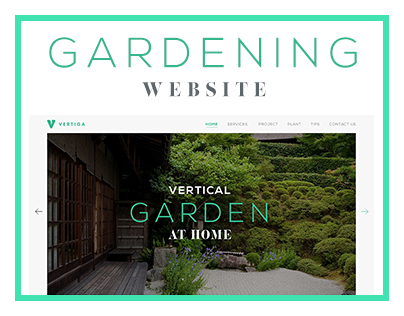 Vertiga - Gardening Website