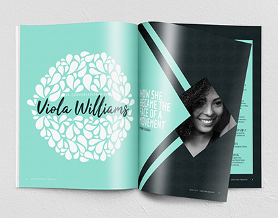 Viola Williams Magazine Spreads