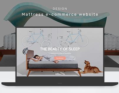 Design mattress e-commerce website